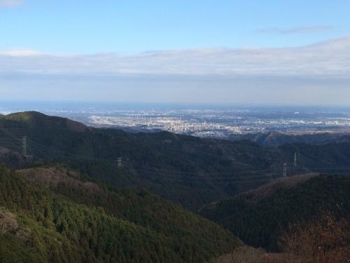 遠くに見える街がスタート(^O^)